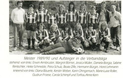 1990 Frauen Meistermannschaft