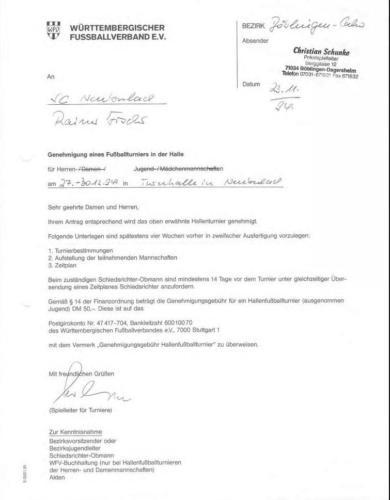 1994-Erste Genehmigung